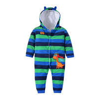 2016 Baby Warm Clothes Winter Thick Hooded Romper Newborn Boys Girls Animal Casual Cotton Windproof Jumpsuit