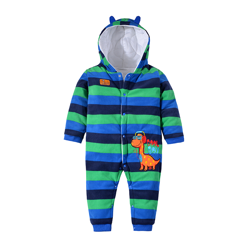2016 Baby Warm Clothes Winter Thick Hooded Romper Newborn Boys Girls Animal Casual Cotton windproof Jumpsuit Padded Outerwear