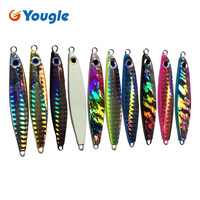 10PCS 22G Jigging Lure Pesca Metal Sequins Lures Bait Jigs Saltwater Road Sub Lure Fishing Sizzling