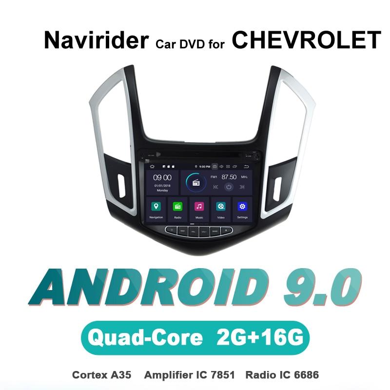 Navirider OS 9.0 lecteur Android de voiture pour CHEVROLET CRUZE 2015 stéréo autoradio gps navigation BT TDA7851 amplificateur système de son