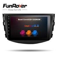 Funrover ips Android 8,0 автомобильный dvd плеер с двумя цифровыми входами для Toyota RAV4 для Toyota Previa Rav 4 2007 2008 2009 2010 2011 радио магнитофон, gps, Wi Fi, rds