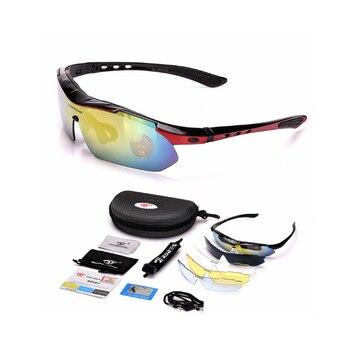 54b7cd4c7 Gafas de sol polarizadas fotocrómicas para hombre, gafas de sol  transparentes para deportes al aire libre, gafas de pesca para bicicleta,  gafas 4 Unid + 1