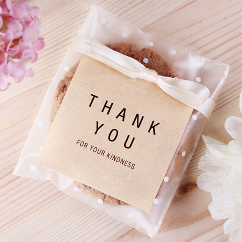 100pcs Transparent Plastic Bag Dragee Cookie Gift Bag Merci Candy Bag French Thank You Wedding Party Packaging Bag Pouch Box Elegant And Sturdy Package