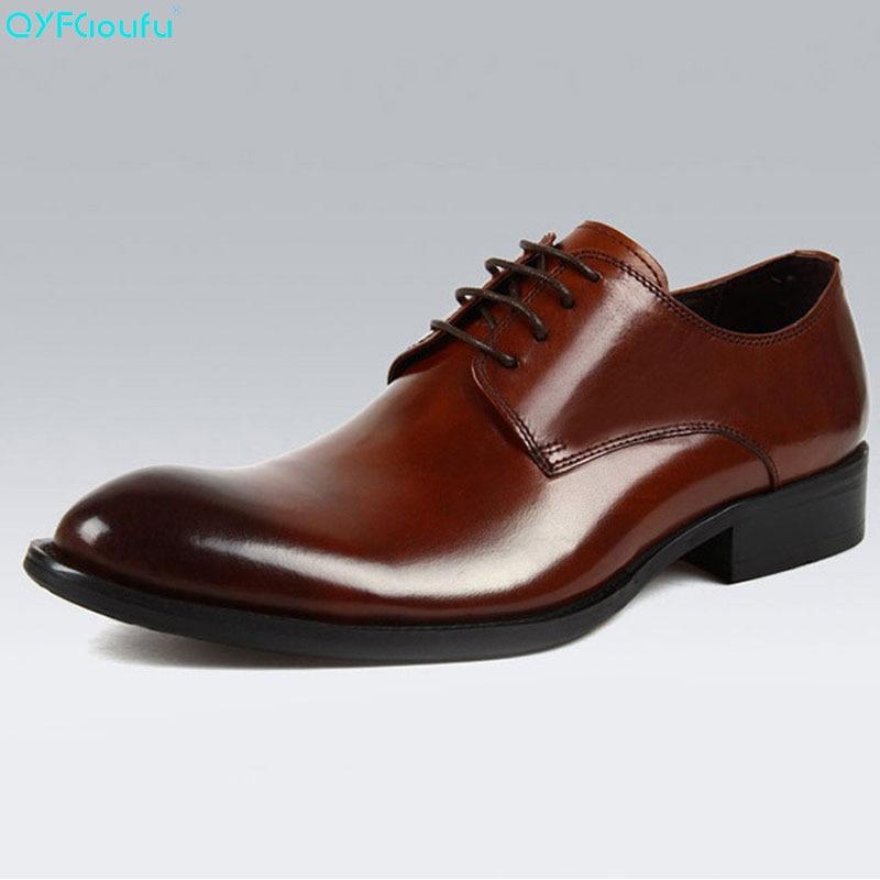 Handmade Office Business Wedding Dress Shoes Italian Brand Designer Luxury Formal Genuine Leather Men