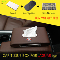 E FOUR Car Tissue Box Luxurious Leather Car Paper Case Holder Magnetic Sticker Box Cover Tissue