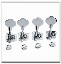 4pcs Right Vintage Open Bass Tuners Machine Heads Knobs Chrome