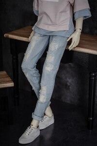 Image 3 - BJD בובת בגדים ללבוש חורים קרוע ג ינס חורי מכנסיים 2 צבעים 1/3 1/4 BJD DD SD MSD YOSD בובת הדוד גודל בובת אבזרים