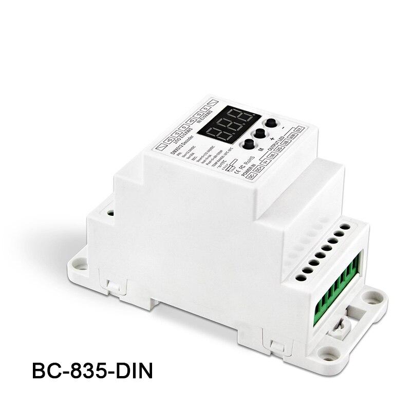 5ch Ausgang 5ch Konstante Spannung Pwm Dmx512/1990 Decoder Controller Für Led Streifen Licht Lampe Bc-835-din Dc12-24v Eingang 5a