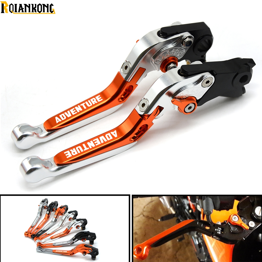 Motorcycle Folding Extendable Adjustable Aluminum Brakes Clutch Levers For KTM 990 AdventuRe adventure 990 2009 in Levers Ropes Cables from Automobiles Motorcycles