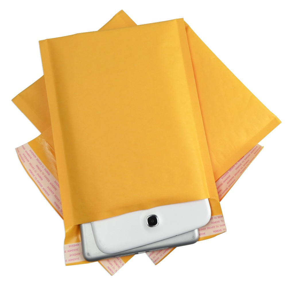 Kraft Bubble Mailers 5x10 Kraft Bubble Padded Envelopes Mailers KF#00 500 #00 Self-Sealing Padded Envelopes Bags