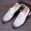 Мужчины fashion бизнес платье змея зерно печати обувь из натуральной кожи свадьба ночной клуб оксфорды квартиры обувь soft comfort кружева