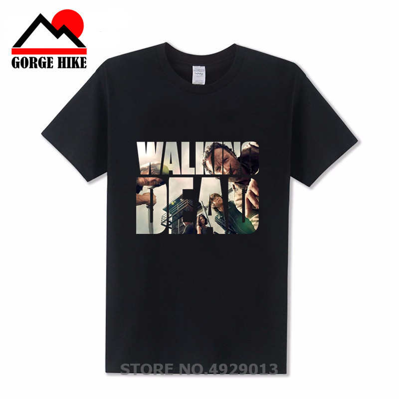 Famous Movie Style The Walking Dead 3D Printed T-shirt 100% Cotton Men T Shirt Casual Fitness Brand Clothing Tops Tees Male 2019