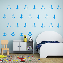 Kit 28/20/9 Stickers Anchor Fishing Home Decor Pattern Vinyl DIY Wall Mural For Kids Room