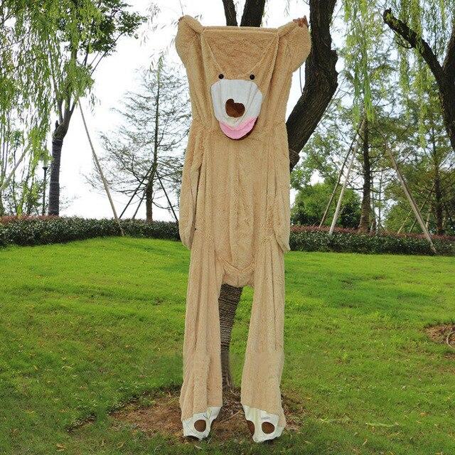 Große Größe 200 cm Amerikanischen Riesen Bär Haut Teddybär Mantel Shell Leere Bearskin Gute Qualität Factary Preis Weiche Spielzeug für Mädchen