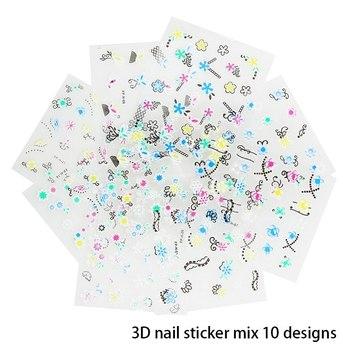 Nail Art Decoration Sponge Buffer Block Manicure Buffing Sanding Files Crystals Nail Brushes Polish DIY Tool Kits Nail Art Tool 3