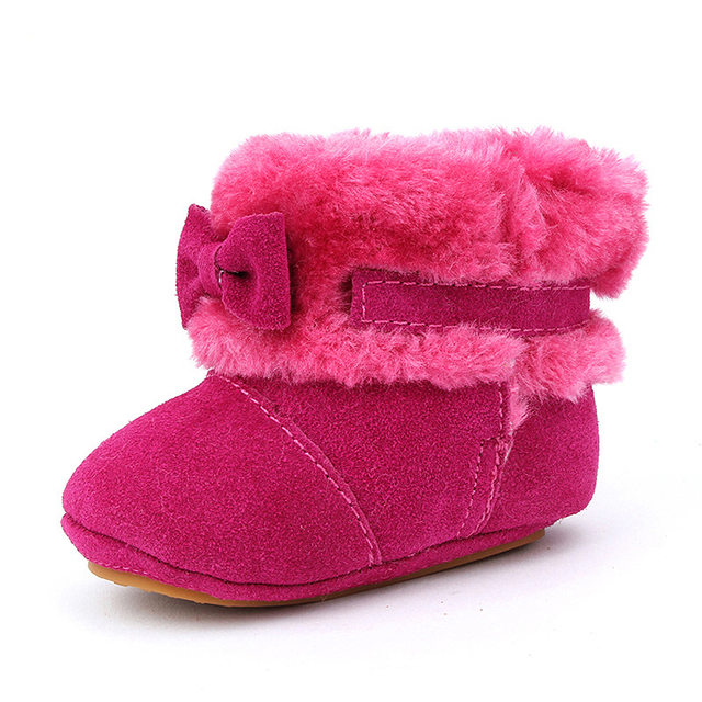 0-3 Years Old Hot Sell 2016 New Winter Fashion Leather cute bow Snow Boot Toddler Baby Warm Shoes Girl Boy Boots 3 Colors BS-K11