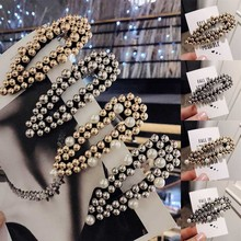 Fashion Imitation Pearl Women Hair Clips Gold Silver Vintage Hairpins Barrette Girls Accessories Hairgrip