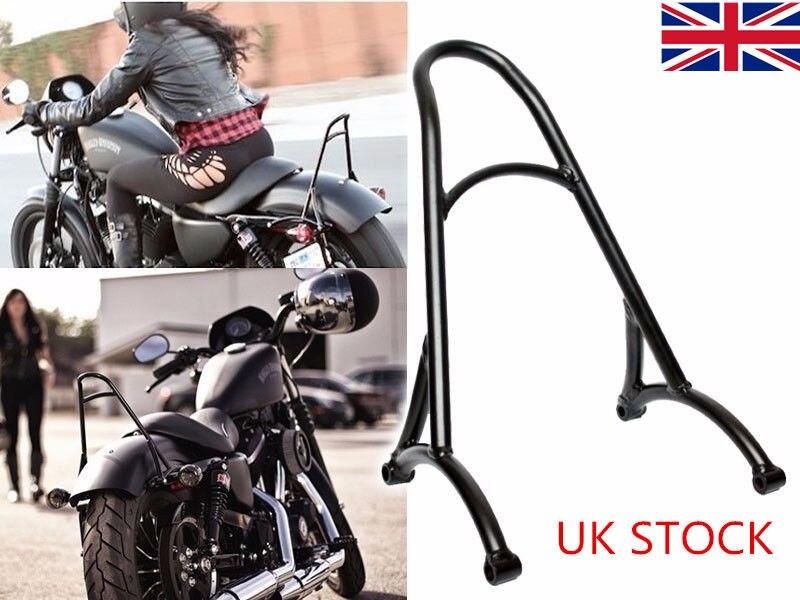 Actions britanniques!! Noir court Sissy Bar passager dossier Rack pour 2004-2016 Harley Sportster XL 883 1200 personnalisé XL883R 1200R XLH1200
