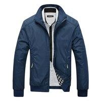 M-5XL Primavera Verano chaquetas hombres Casual Thin Windbreaker Universidad Collar del soporte negro Windcheater hombre Varsity Jacket tamaño grande W64