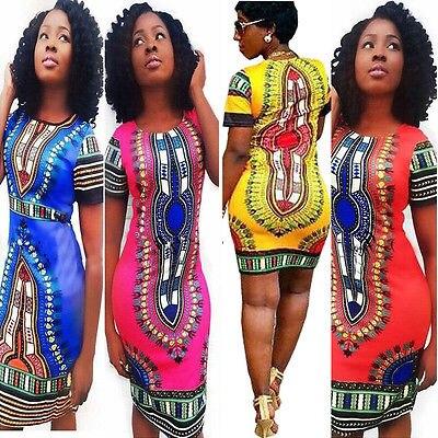 Dropship New 2016 Women Summer Dress Traditional African