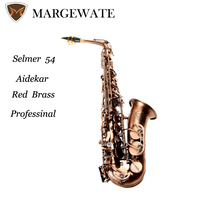 Aidekar Alto Eb Saxophone Antique Red Copper Sax Mouthpiece High Quality Sax From SLEMER 54 Instruments