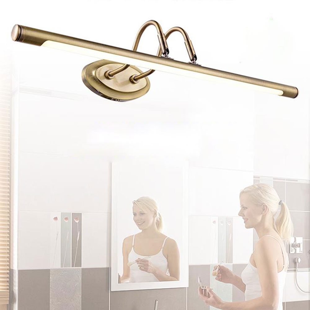 ФОТО L38cm L48cm L62cm 4W 6W 10W antique bronze cabinet light LED front mirror light bathroom cabinet dressing table kitchen lamps