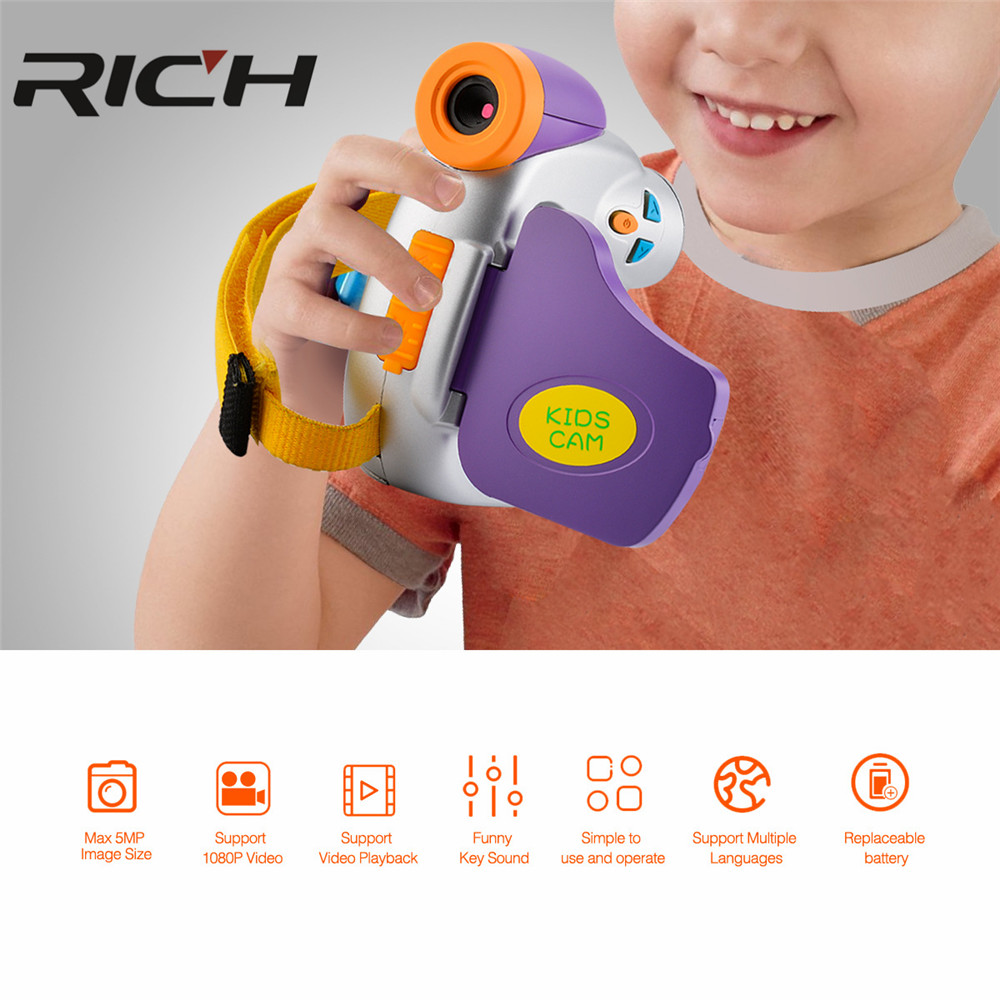 DHL RICH 1080P MINI kids digital video camera with 1.44'' TFT display and 4x digital zoom digital camcorder free shipping