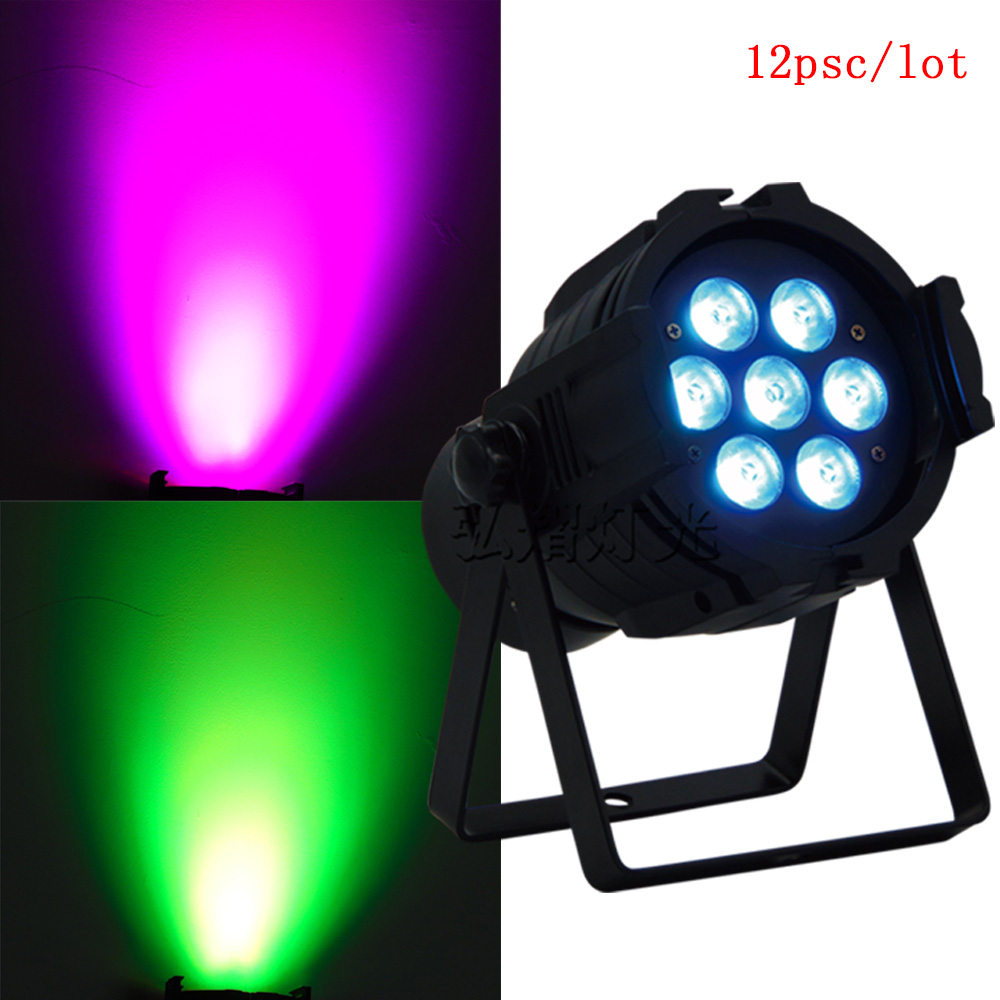 12pcs/lot LED RGBW LED Light Mixing Led Par 7X12W DMX Par Light Dj Light for Party Disco EU Plug12pcs/lot LED RGBW LED Light Mixing Led Par 7X12W DMX Par Light Dj Light for Party Disco EU Plug