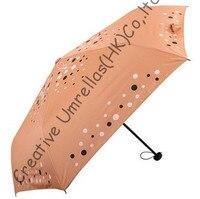 Free shipping,6k fiberglass pocket umbrellas,three fold umbrellas,hand open,windproof,UV protecting,superlight,bag umbrellas