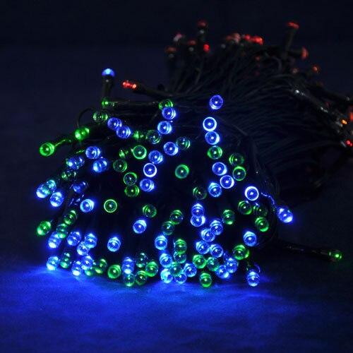 ФОТО 2014 NEW 22M Long RGB Color Solar Christmas String Light Wedding Party Garden Holiday LED Decorative Lights