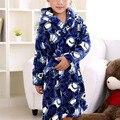 Venta caliente Otoño Invierno Niños Albornoz Suave Pijama de Franela Albornoces infantiles Niños Espesan Robes Homewear