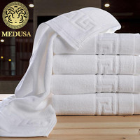 medusa egyptian cotton solid yarn dyed dobby great wall bath/face towel 3pcs set for home/stars hotel