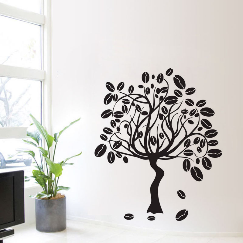 Coffee Tree Wall Stickers Design Vinyl Art Decals Coffee