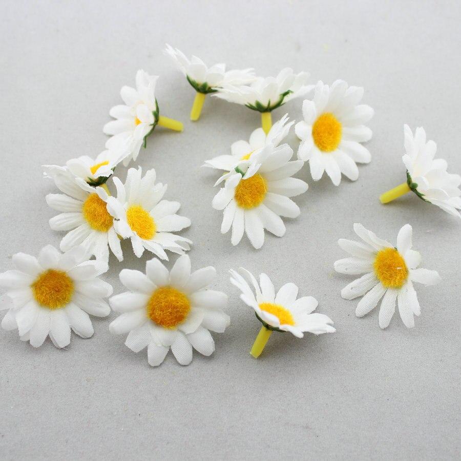 Diy hair accessories for weddings - 100pcs Artificial Gerbera Daisy Silk Fabric Flowers Heads For Diy Wedding Party Hair Accessories China