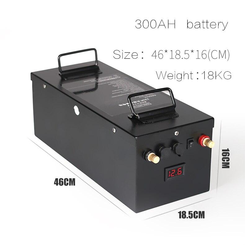 Batterie lithium-ion li-ion Ultra-grande capacité 12 V 200AH 300AH pour camping-cars, moteurs de bateau, e-ship, panneau solaire, batterie externe