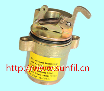 FOR DEUTZ FUEL SHUTDOWN STOP SOLENOID VALVE 0427 2734/04272734 Volt 24V fuel shutdown solenoid valve 332 j5060 its for jcb excavator 24v stop solenoid