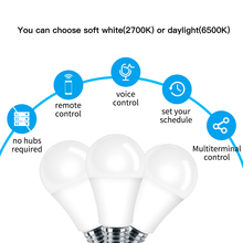 WiFi Smart Light Bulb LED Lamp 7W Warm Cool White Smart Life/Tuya APP Remote Control Works with Alexa Echo Google E27 E26