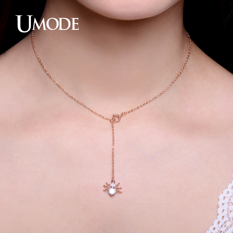 UMODE Brand New Spider Shape Rose Gold Color Top CZ Pendants - Fashion Jewelry - Photo 5