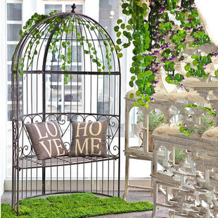 Large Outdoor Patio Seating Iron Birdcage Style Restaurant