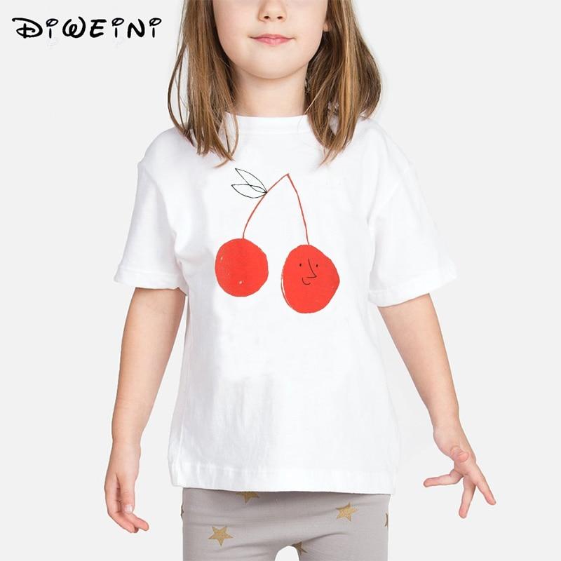7a719c272 Bobo elige 2019 verano bebé niñas niños camiseta Animal Print Ropa  Camisetas niños blanco Camisetas de 2 a 8 años niño Tops