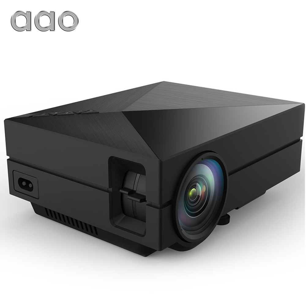 AAO GM50 Upgrade GM60 MINI Projector For Video Games TV Beamer Project Home Theatre Movie Support 1080P AC3 HDMI VGA AV SD USB стоимость