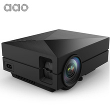 AAO GM50 Actualización GM60 MINI Proyector De Videojuegos TV Beamer proyecto de Ayuda de la Película de Cine En Casa 1080 P HDMI VGA SD AV AC3 USB