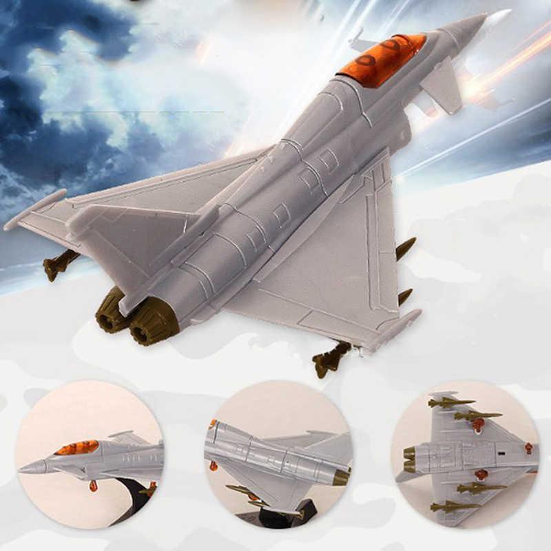 1Pcs Warna Acak Skala Merakit Tempur Model Mainan Bangunan Alat Set Flanker Pesawat Tempur Diecast Perang. 10-12 Cm (L)