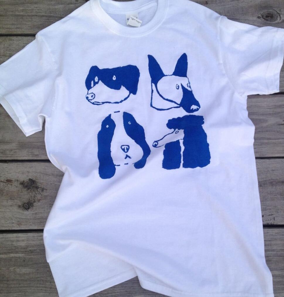 Tee shirt <font><b>Dog</b></font> Lover <font><b>Unisex</b></font> <font><b>Tshirt</b></font> Summer Screen Printed White Cotton Tops Round Neck Plus Size Casual Harajuku Tumblr T shirt image
