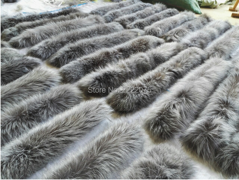 Collar Fox Fur Collar 100% Natural Silver Fox Fur Collar Fur Hat Hat Side Accessories