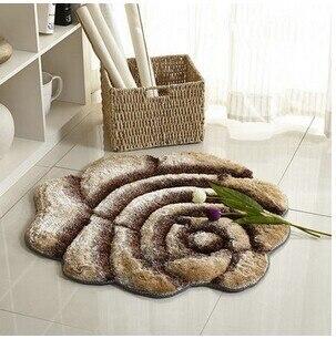 3D стерео ковер с розами журнальный столик для гостиной коврик диван кровать спальня коврики Европейская мода на заказ ковер - Цвет: Champagne