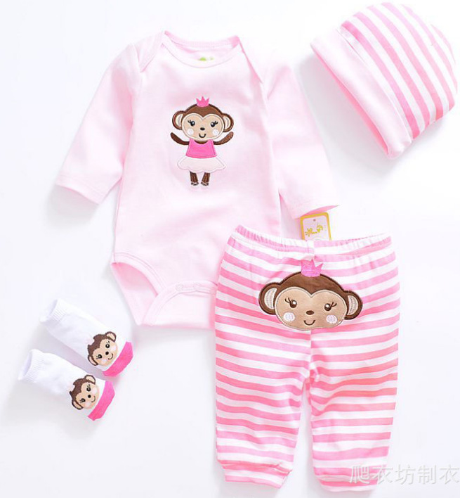 "20-22/"" Reborn Baby Girl Clothing Newborn Christmas Clothes Set Dress Doll Gifts"