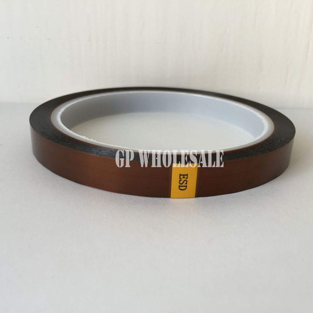 0.06mm Thick 15mm*33M Heat Withstand ESD Single side Sticky Tape, Polyimide Film for Electrical, Insulate 110mm 33 meters 0 08mm single side heat resist sticky pet polyester film tape for protection