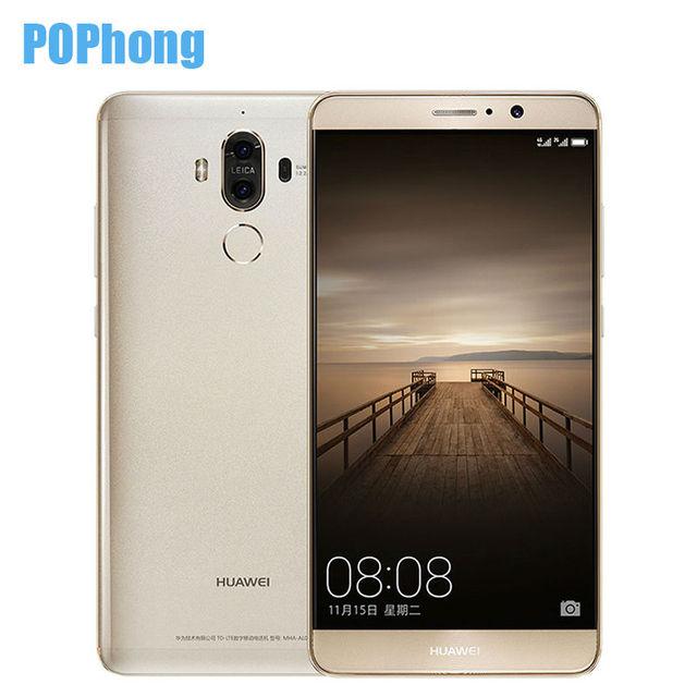 Original Huawei Mate 9 5.9 inch Android 7.0 Mobile Phone Kirin 960 Octa Core 6GB RAM 128GB ROM 2 Back Cameras 20.0MP+12.0MP