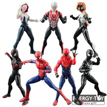 Cartoon Spider-Man:Homecoming Spider Man 2099 Spider Woman Gwen Stacy super hero pvc action figure doll model toy(China)